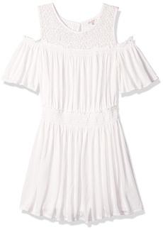 Ella Moss Girls' Big Cold Shoulder Dress Full sail 7/8