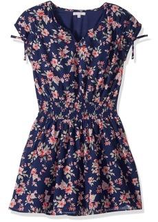 Ella Moss Girls' Big Floral Print Chiffon Dress