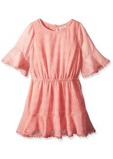 Ella Moss Big Girls' Flounce Chiffon Dress
