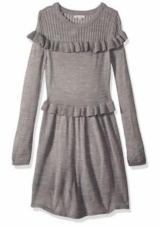 Ella Moss Big Girls' Ruffle Sweater Dress