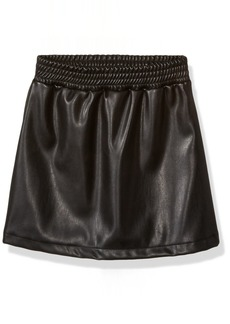 Ella Moss Big Girls' SA Faux Leather Skirt