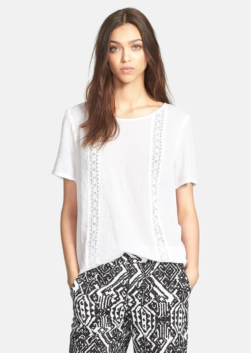 Ella Moss 'Boheme' Lace Trim Cotton Top
