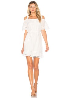 Ella Moss Brigitte Ruffle Dress in White. - size L (also in M,S,XS)