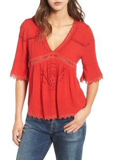 Ella Moss Broderie Anglaise Top