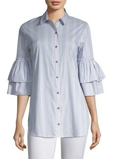 Ella Moss Casrissa Stripe Bell-Sleeve Shirt