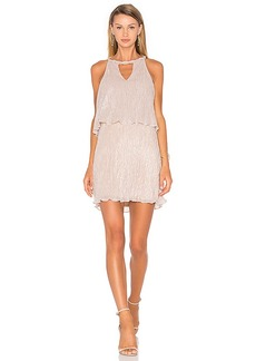 Ella Moss Cerine Dress in Metallic Silver. - size L (also in M,XS)