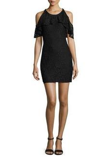 Ella Moss Cold-Shoulder Lace Mini Dress