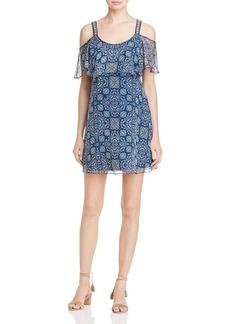 Ella Moss Cold-Shoulder Printed Silk Dress - 100% Exclusive