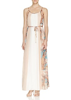 Ella Moss Color Block Silk Maxi Dress