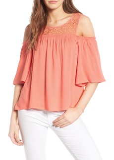 Ella Moss Crochet Cold Shoulder Top