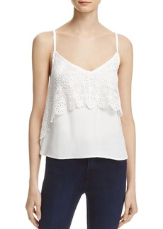 Ella Moss Crocheted Overlay Top