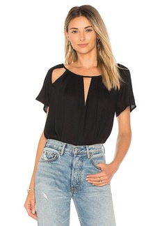 Ella Moss Cutout Top in Black. - size L (also in M,S,XS)