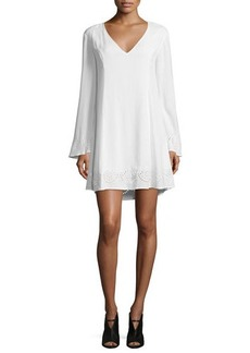 Ella Moss Dana Long-Sleeve Embroidered Dress