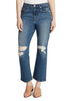 Ella Moss Desctruted Cropped Flared Jeans in Jaxton