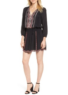 Ella Moss Embroidered Blouson Minidress