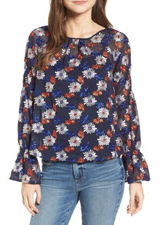 Ella Moss Embroidered Floral Blouse