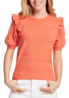 Ella Moss Emilia Ruffle-Sleeve Sweater
