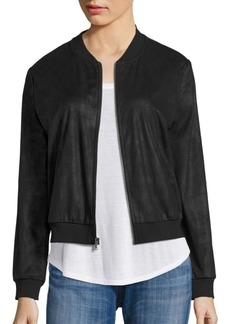 Ella Moss Faux Leather Bomber Jacket