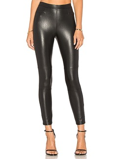Ella Moss Faux Leather Legging in Black. - size M (also in S,XS)