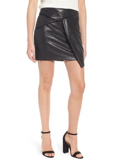Ella Moss Faux Leather Miniskirt