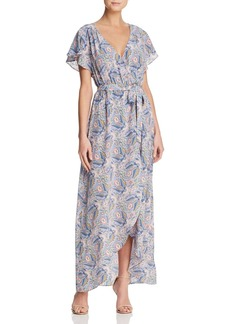 Ella Moss Faux-Wrap Floral-Print Maxi Dress