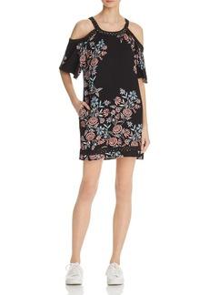 Ella Moss Floral Cold-Shoulder Dress