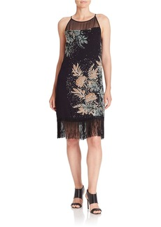 ELLA MOSS Floral Fringed Dress