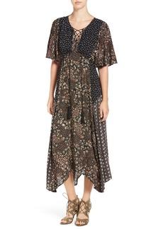 Ella Moss Floral Patchwork Maxi Dress