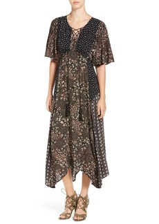 Ella Moss Floral Patchwork Maxi Dress