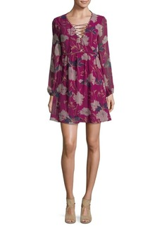 Ella Moss Floral-Print Georgette Dress