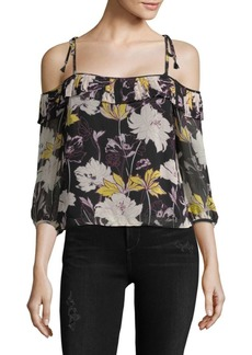 Ella Moss Floral-Print Off-The-Shoulder Top