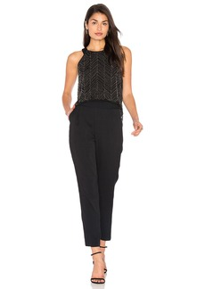 Ella Moss Frances Beaded Mesh Jumpsuit