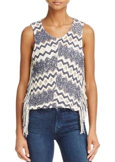 Ella Moss Fringe Crochet Sweater Tank