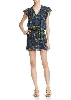 Ella Moss Garden Print Silk Dress