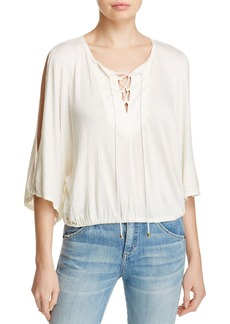 Ella Moss Gioannia Lace-Up Top