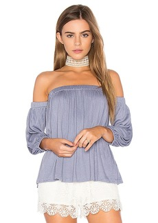 Ella Moss Gioannia Off Shoulder Top in Blue. - size L (also in S,XS)