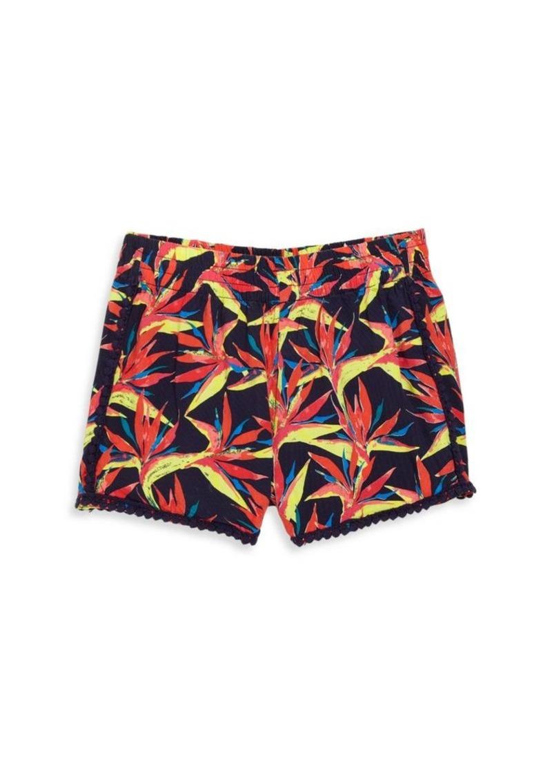 Ella Moss Girl Girl's Crochet Trim Printed Shorts