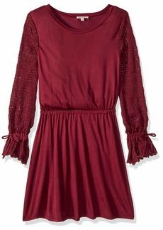 Ella Moss Girls' Big Sweater Sleeves Dress fig