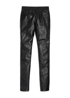 Ella Moss Girls' Faux-Leather-Paneled Pants - Big Kid