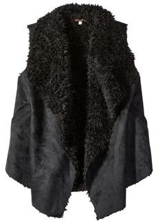 Ella Moss Girls' Slim Size Cami Faux Suede Vest