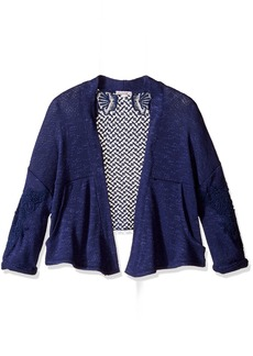 Ella Moss Girls' Slim Size Perrie Loose Knit Wrap