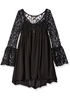 Ella Moss Girls' Slim Size Shyla Bell Sleeve Dress