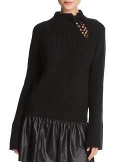 Ella Moss Gracy Lace-Up Detail Sweater