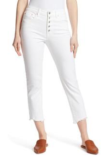 Ella Moss High-Rise Cropped Straight-Leg Jeans