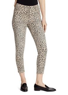 Ella Moss High Rise Skinny Ankle Jeans in Cheetah