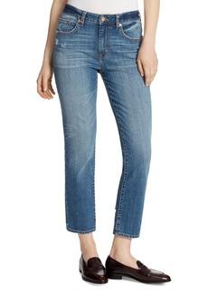 Ella Moss High-Rise Slim Straight Ankle Jeans in McKinney