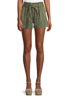 Ella Moss High-Waist Belted Paperbag Shorts
