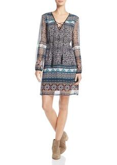 Ella Moss Jacinda Printed Silk Dress