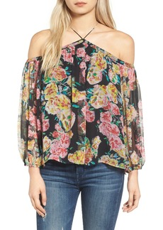 Ella Moss Jaeda Cold Shoulder Silk Blouse