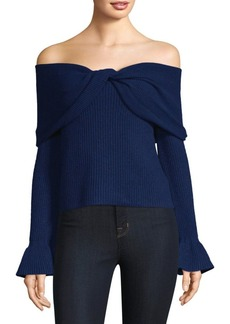 Ella Moss Jasinda Off-The-Shoulder Ribbed Sweater